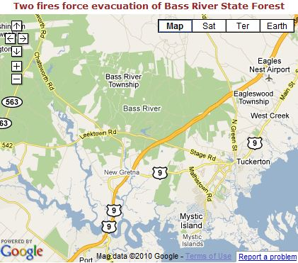 Forest Fire Bass River Map