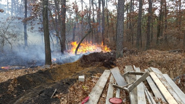 EVFC Incident #120 11/21/2016 at 11:09am - 3350 Moss Mill Rd for a Woods Fire- A