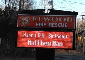 Bday sign