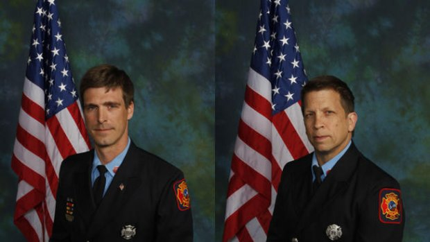 Lt. Christopher Leach and Senior Firefighter Jerry Fickes