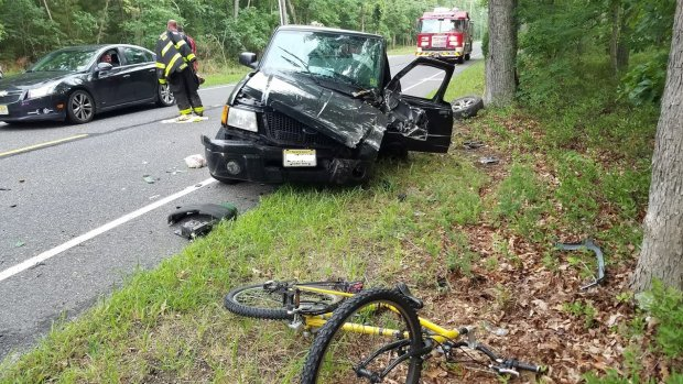 EVFC Incident #41 07/11/2017 at 6:53pm - Elwood Rd between Blueberry Rd and Reading Ave for Single Motor Vehicle Crash - A