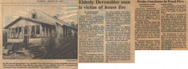 Elderly Devonshire Man Is Victim of House Fire Jan 22th 1987.jpg