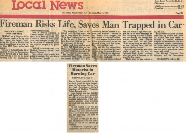 Fire Risks Life, Saves Man Trapped in Car 1986.jpg