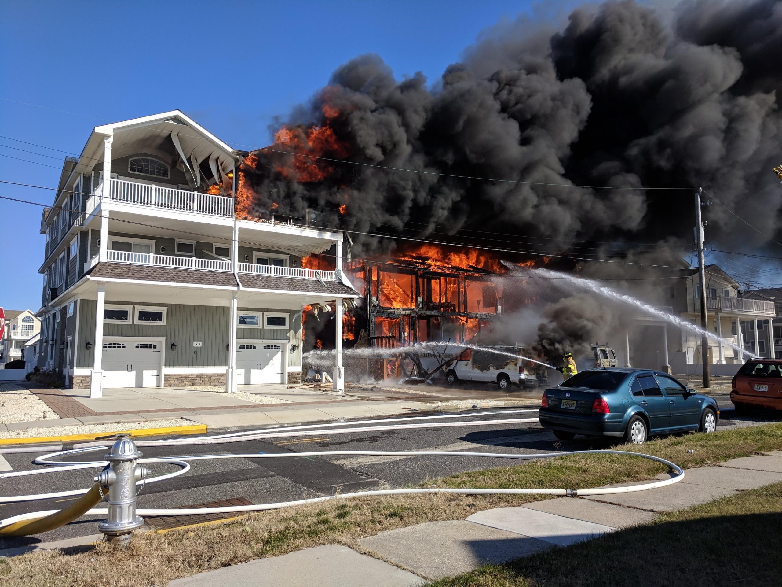 Firefighters Battle Sea Isle City Fire 11-29-18