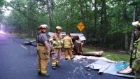 EVFC Incident #41 06/13/2014 at 5:25am - Moss Mill Rd near Heidelberg Ave for MVA with Fuel Spill